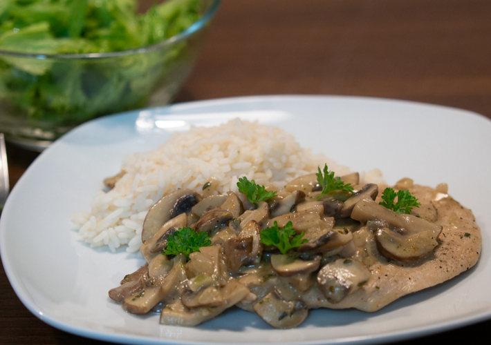 20191013-Champignonschnitzel mit Reis